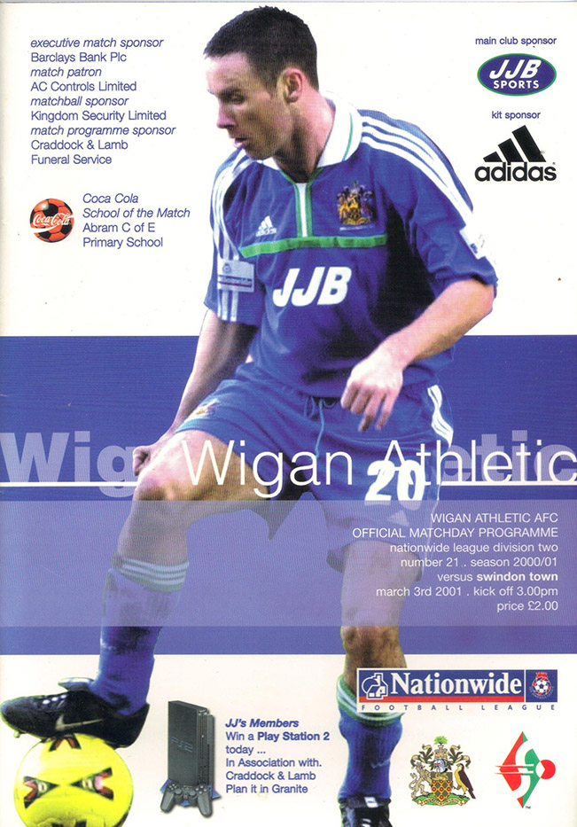 Saturday, March 3, 2001 - vs. Wigan Athletic (Away)
