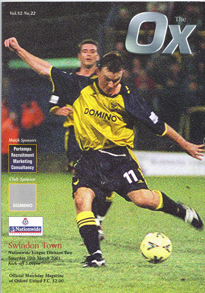 Saturday, March 10, 2001 - vs. Oxford United (Away)
