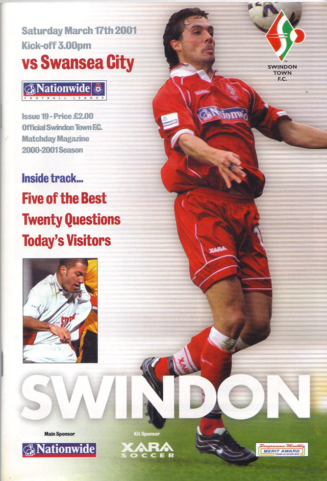 Saturday, March 17, 2001 - vs. Swansea City (Home)