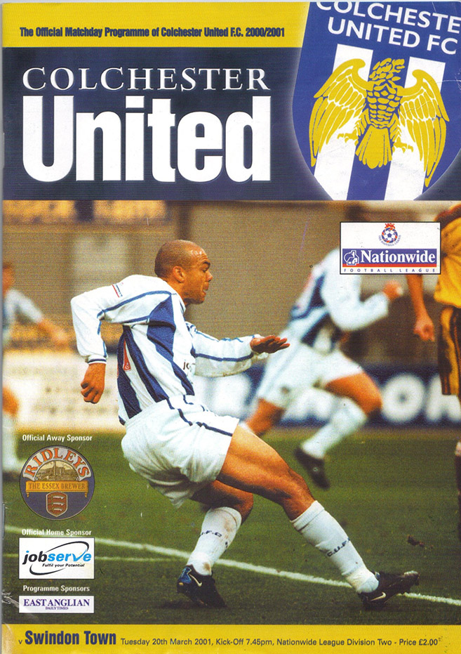 Tuesday, March 20, 2001 - vs. Colchester United (Away)