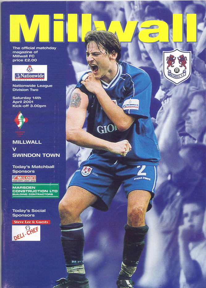 Saturday, April 14, 2001 - vs. Millwall (Away)