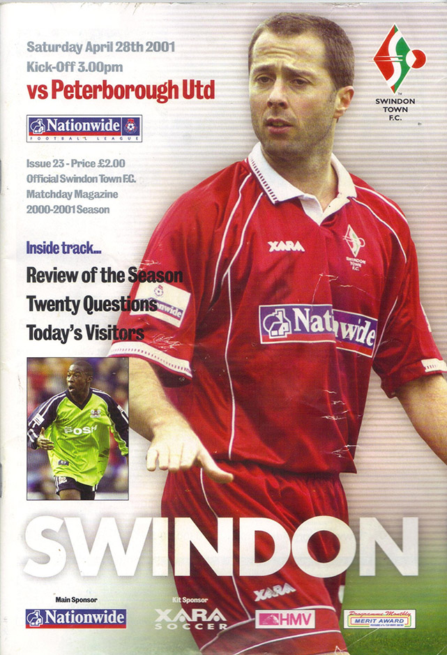 Saturday, April 28, 2001 - vs. Peterborough United (Home)