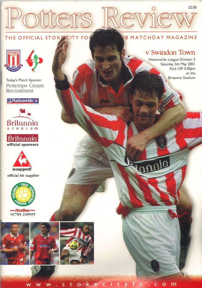 Saturday, May 5, 2001 - vs. Stoke City (Away)