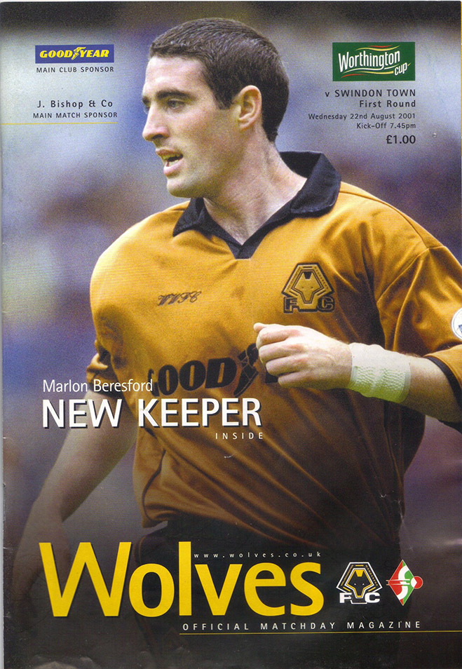 Wednesday, August 22, 2001 - vs. Wolverhampton Wanderers (Away)
