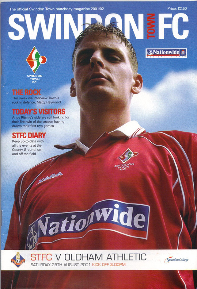 Saturday, August 25, 2001 - vs. Oldham Athletic (Home)