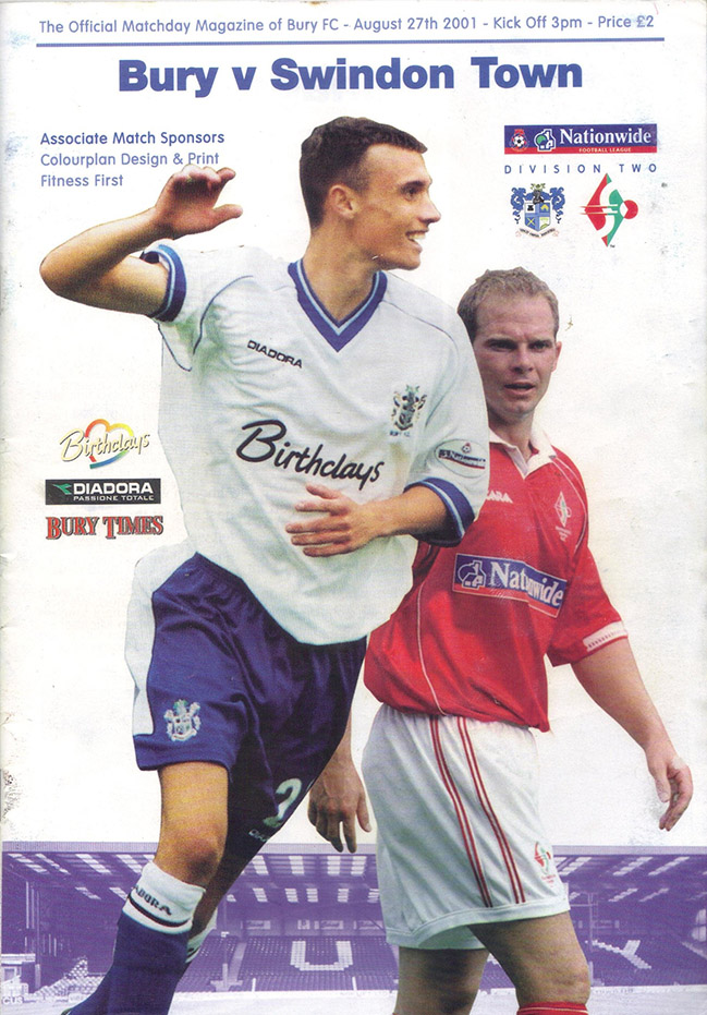 Monday, August 27, 2001 - vs. Bury (Away)