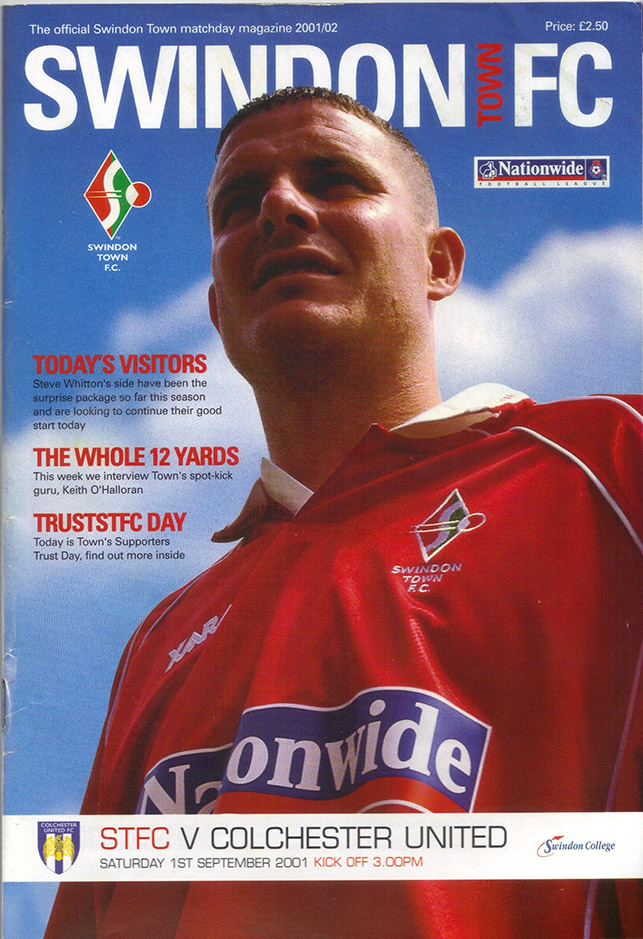 Saturday, September 1, 2001 - vs. Colchester United (Home)
