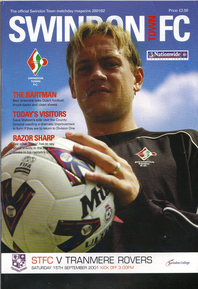 Saturday, September 15, 2001 - vs. Tranmere Rovers (Home)
