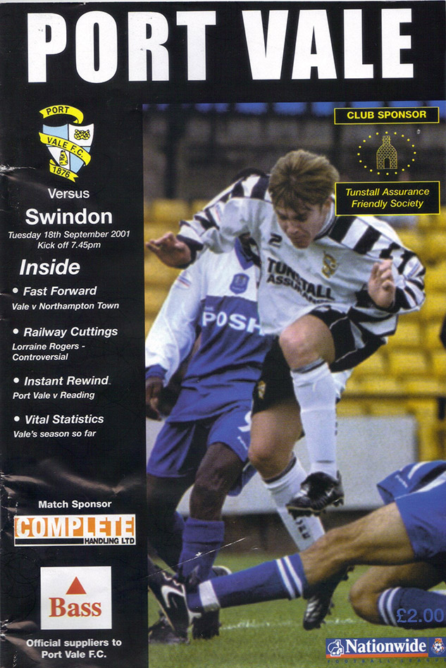 Tuesday, September 18, 2001 - vs. Port Vale (Away)