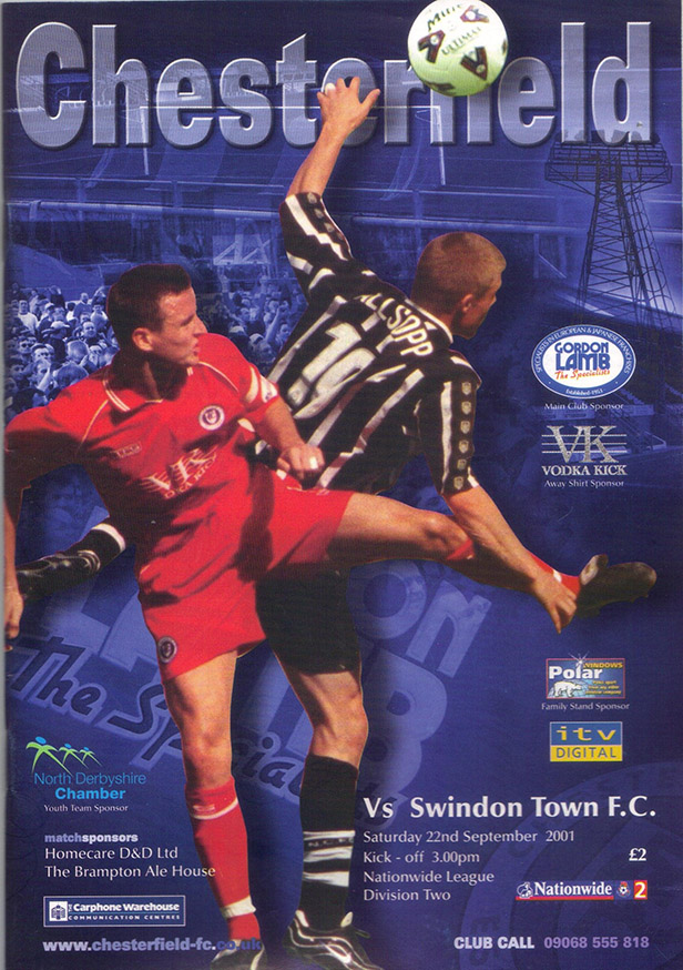 Saturday, September 22, 2001 - vs. Chesterfield (Away)