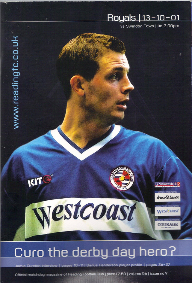 Saturday, October 13, 2001 - vs. Reading (Away)