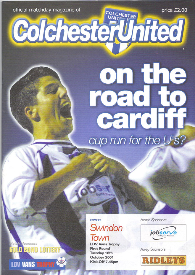 Tuesday, October 16, 2001 - vs. Colchester United (Away)