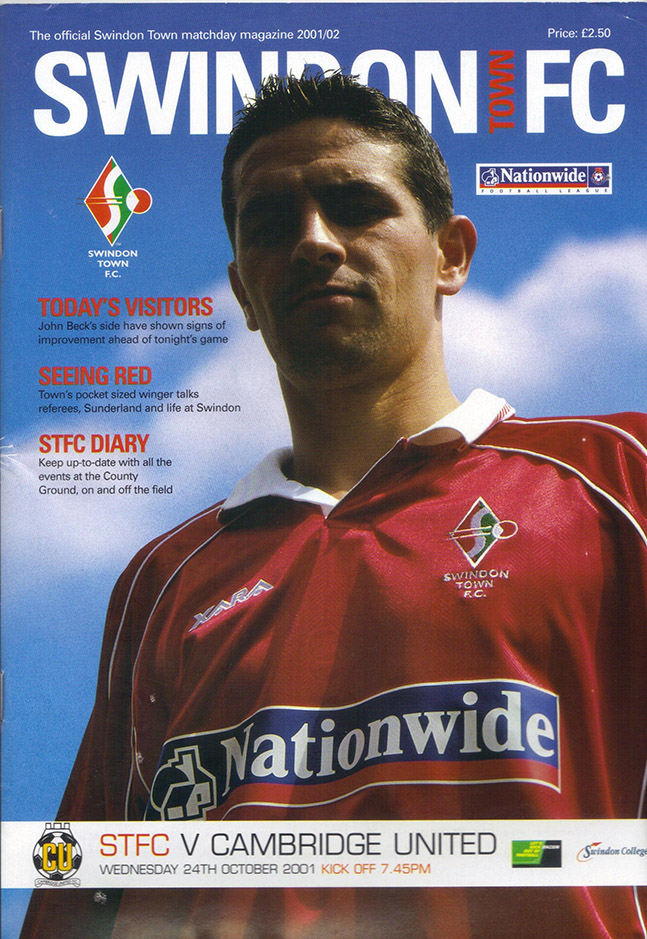 Wednesday, October 24, 2001 - vs. Cambridge United (Home)