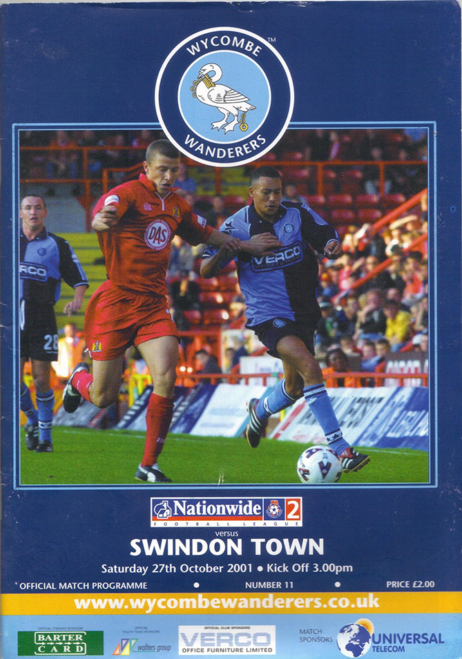Saturday, October 27, 2001 - vs. Wycombe Wanderers (Away)