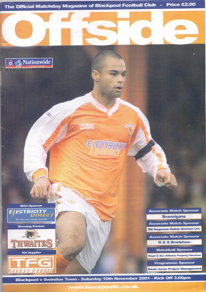 Saturday, November 10, 2001 - vs. Blackpool (Away)