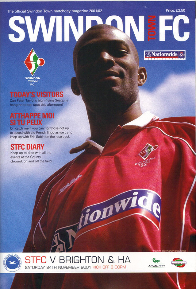 Saturday, November 24, 2001 - vs. Brighton and Hove Albion (Home)