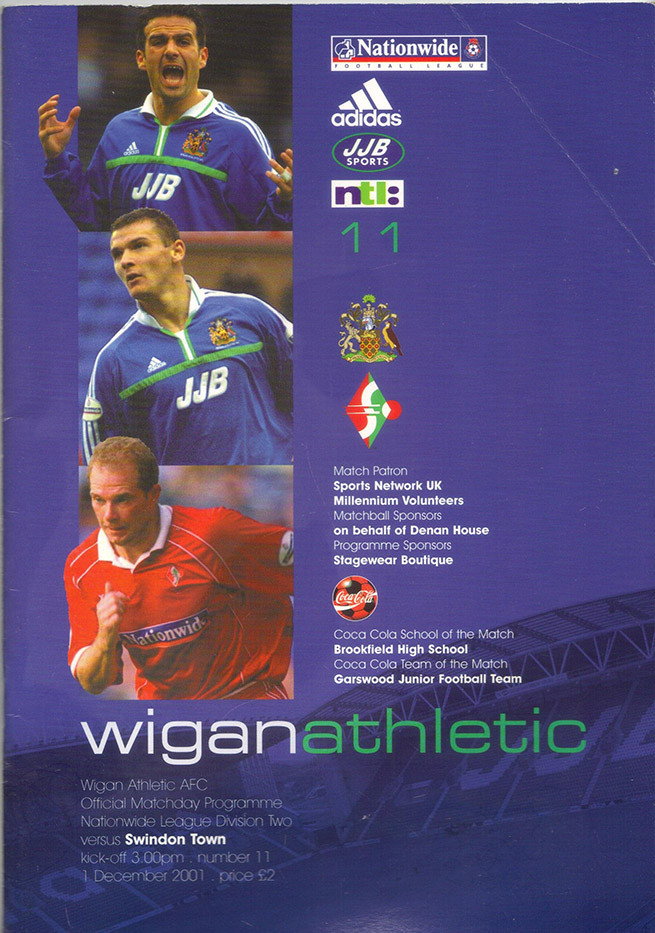 Saturday, December 1, 2001 - vs. Wigan Athletic (Away)