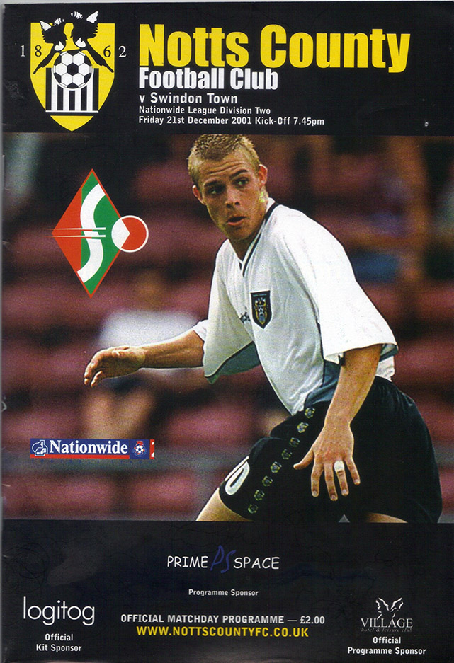 Friday, December 21, 2001 - vs. Notts County (Away)