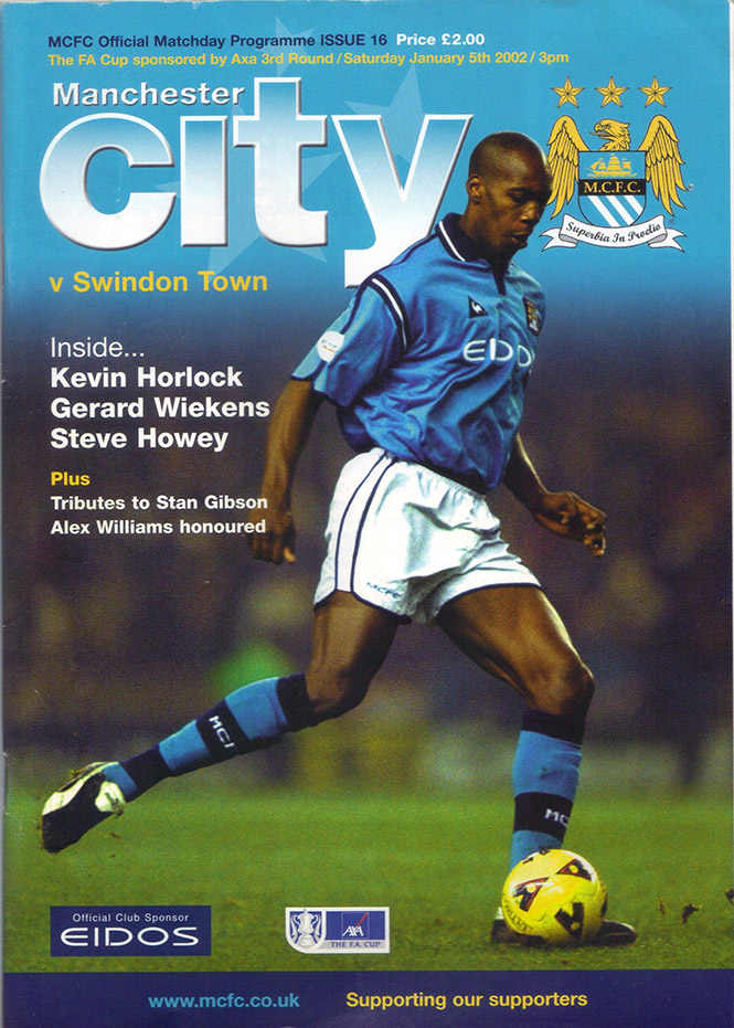 Saturday, January 5, 2002 - vs. Manchester City (Away)