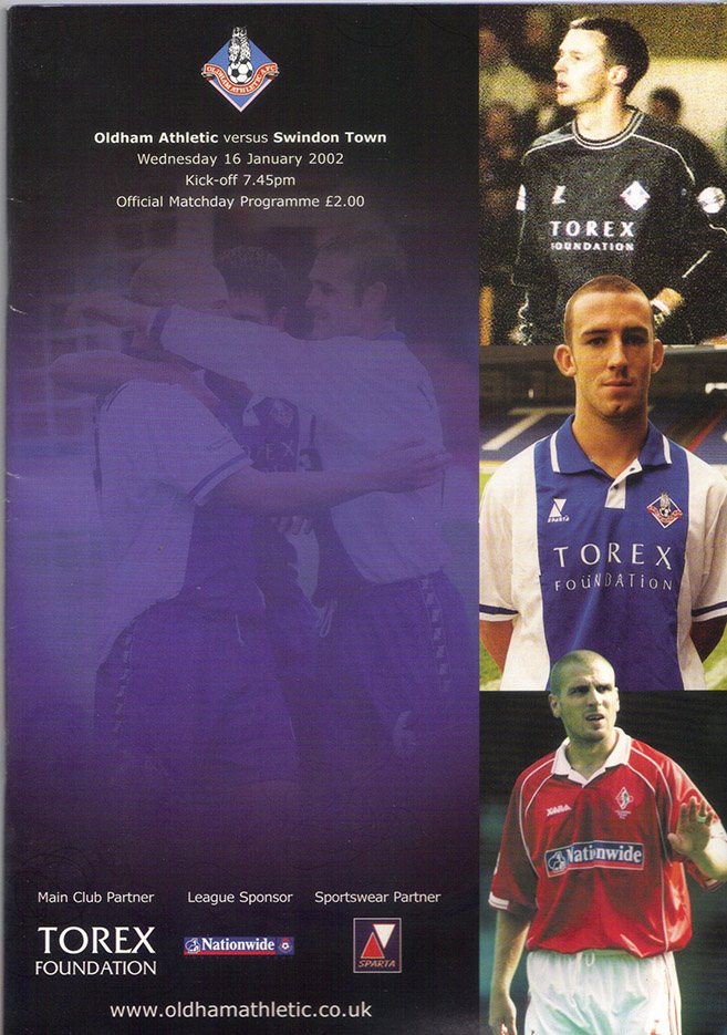 Wednesday, January 16, 2002 - vs. Oldham Athletic (Away)