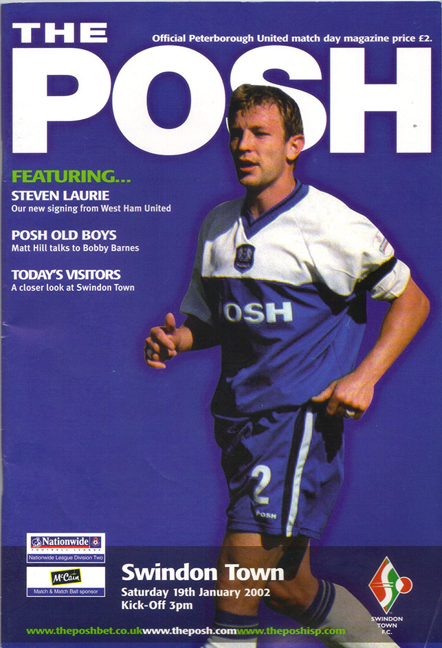 Saturday, January 19, 2002 - vs. Peterborough United (Away)