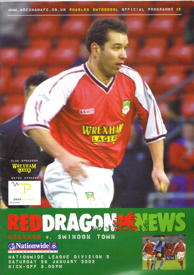 Saturday, January 26, 2002 - vs. Wrexham (Away)