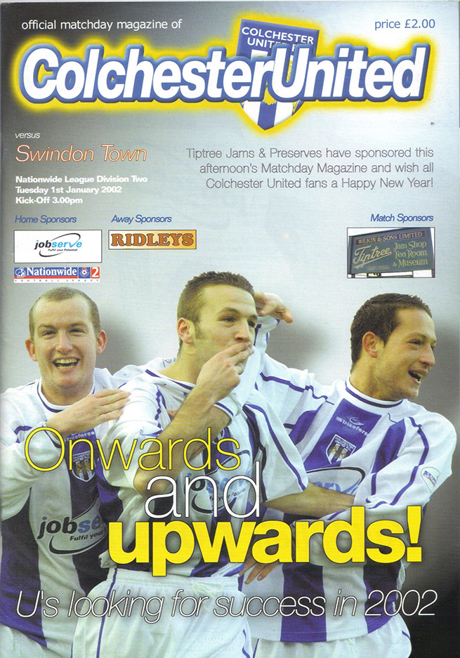 Wednesday, January 30, 2002 - vs. Colchester United (Away)