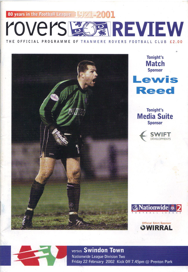 Friday, February 22, 2002 - vs. Tranmere Rovers (Away)