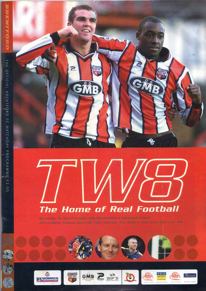 Tuesday, March 5, 2002 - vs. Brentford (Away)