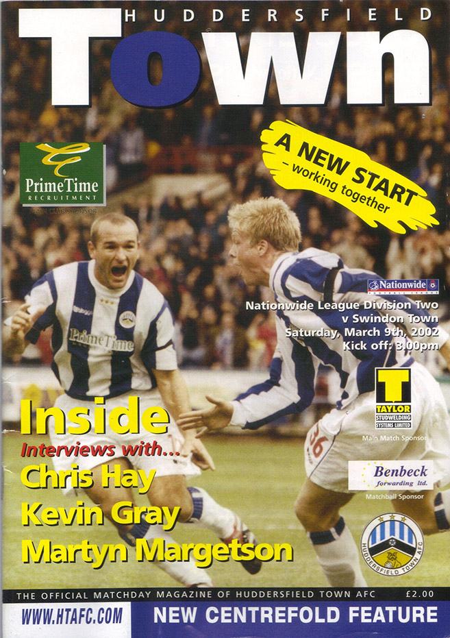 Saturday, March 9, 2002 - vs. Huddersfield Town (Away)