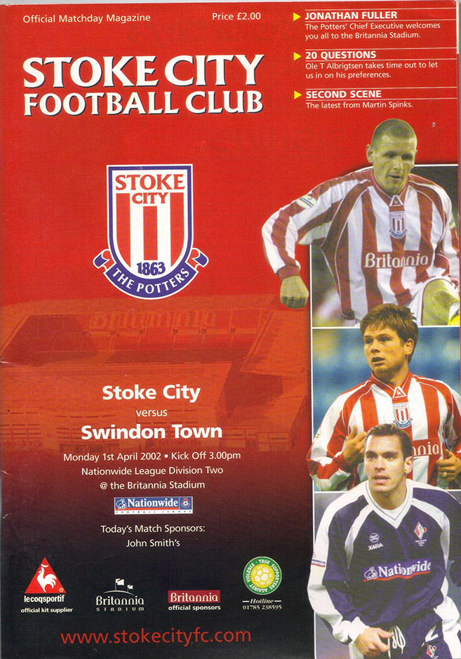 Monday, April 1, 2002 - vs. Stoke City (Away)