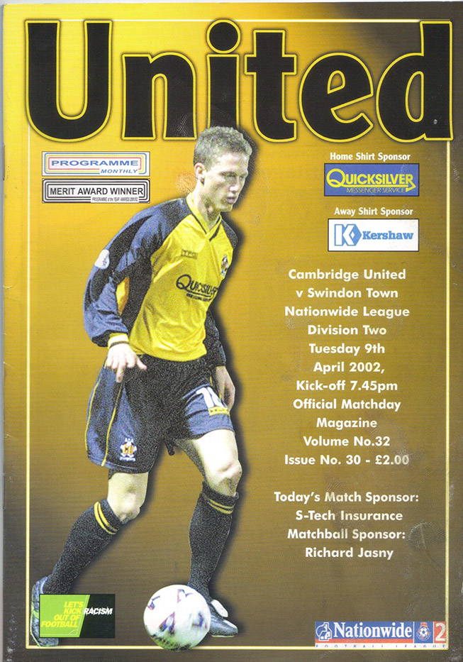 Tuesday, April 9, 2002 - vs. Cambridge United (Away)