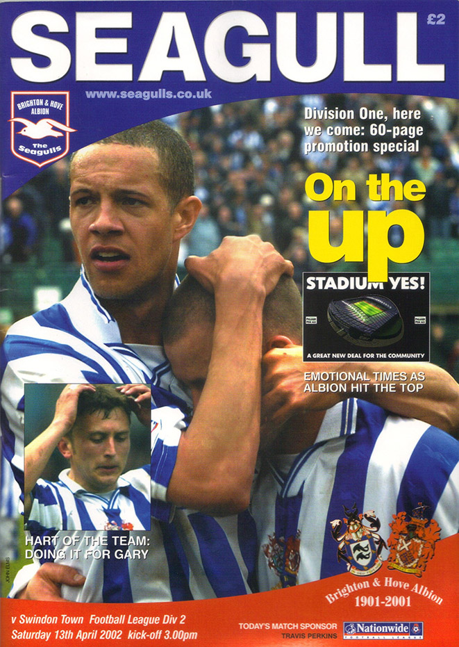 Saturday, April 13, 2002 - vs. Brighton and Hove Albion (Away)