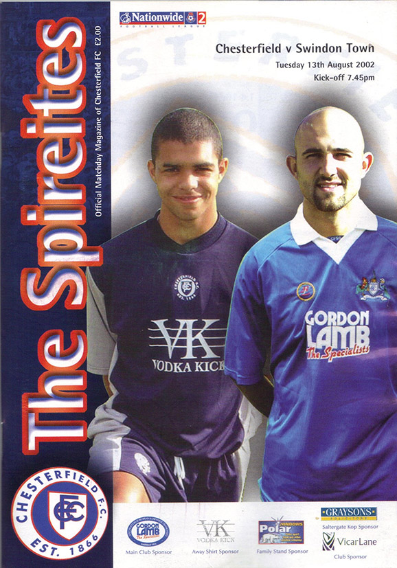 Tuesday, August 13, 2002 - vs. Chesterfield (Away)