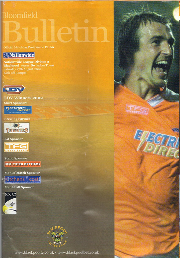 Saturday, August 17, 2002 - vs. Blackpool (Away)