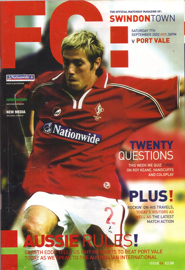Saturday, September 7, 2002 - vs. Port Vale (Home)