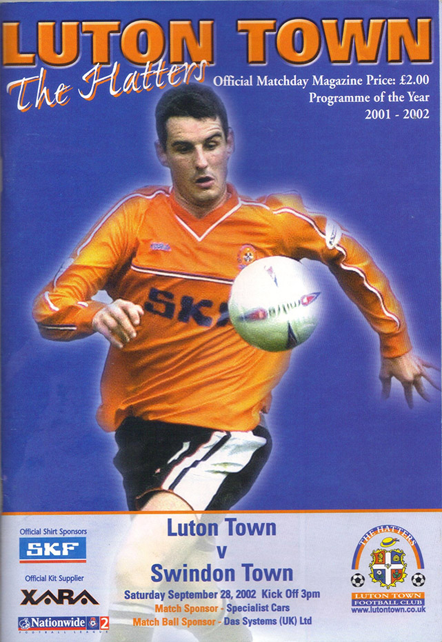 Saturday, September 28, 2002 - vs. Luton Town (Away)