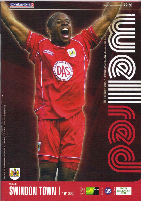 Saturday, October 19, 2002 - vs. Bristol City (Away)