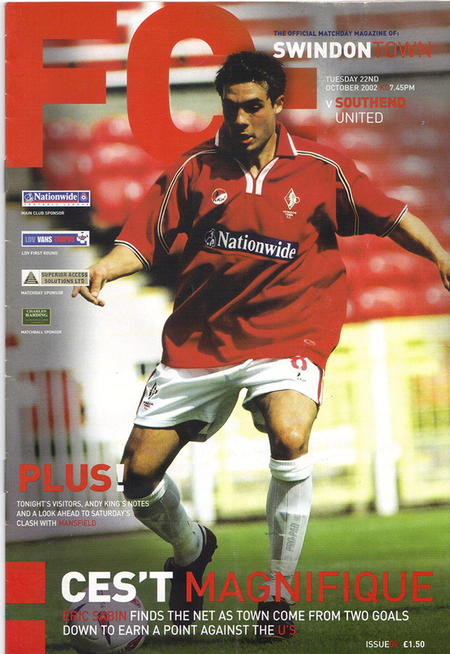 Tuesday, October 22, 2002 - vs. Southend United (Home)