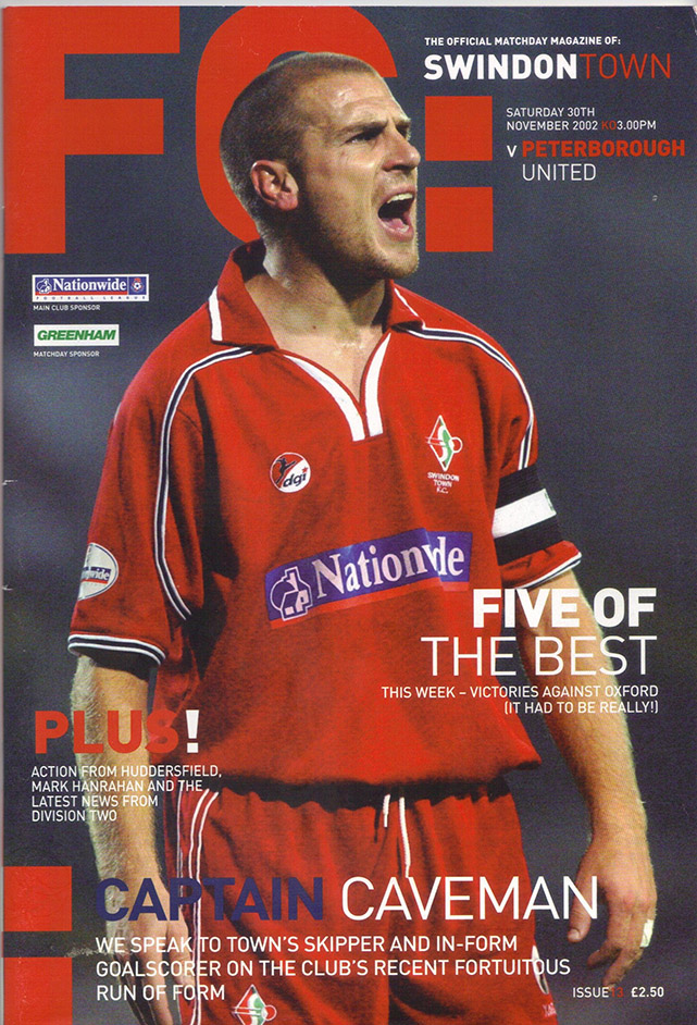 Saturday, November 30, 2002 - vs. Peterborough United (Home)