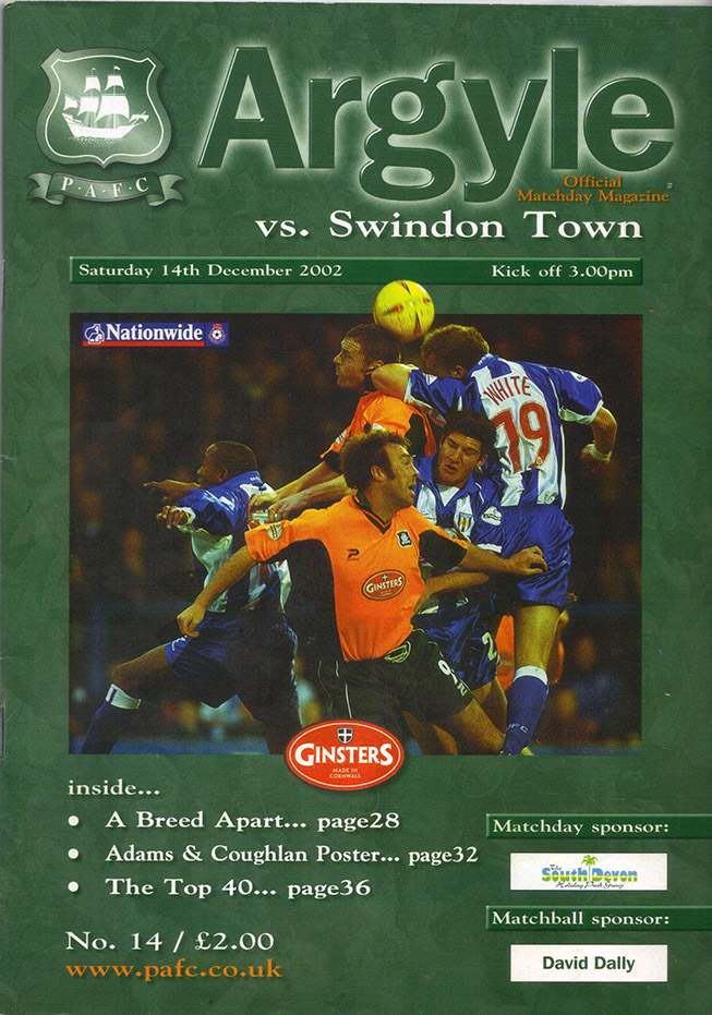 Saturday, December 14, 2002 - vs. Plymouth Argyle (Away)
