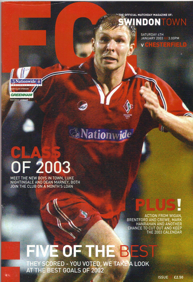 Saturday, January 4, 2003 - vs. Chesterfield (Home)