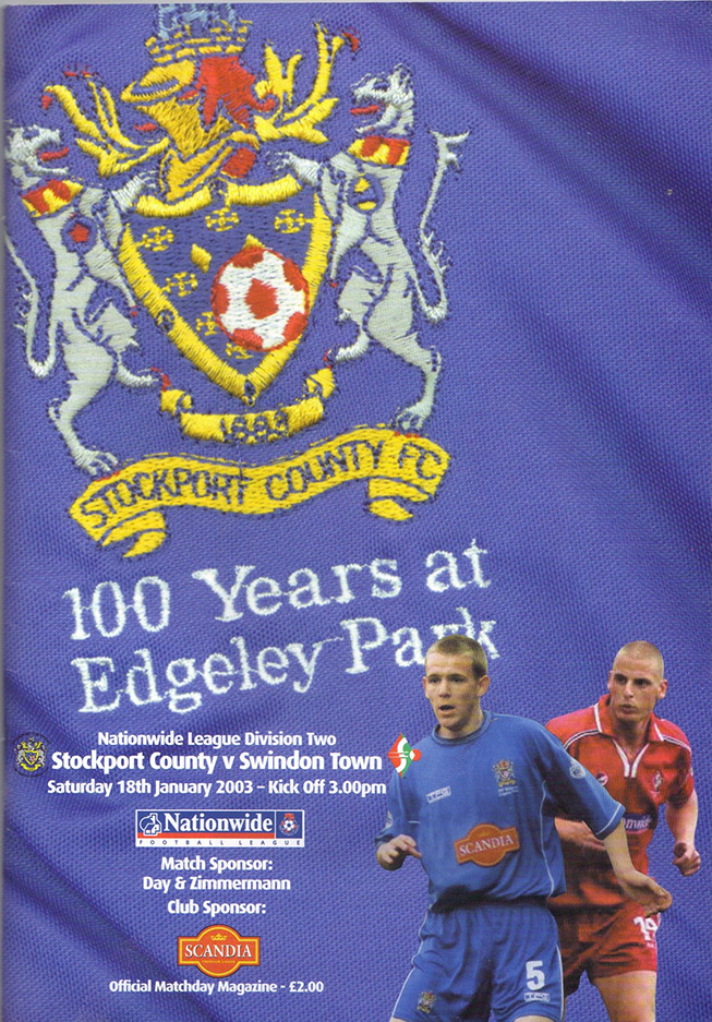 Saturday, January 18, 2003 - vs. Stockport County (Away)
