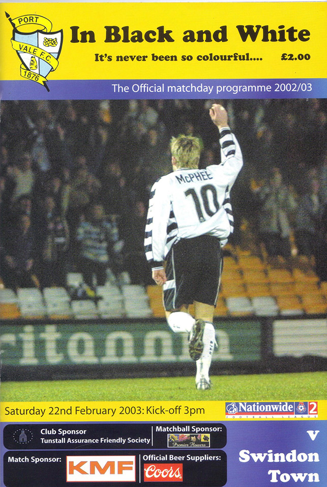Saturday, February 22, 2003 - vs. Port Vale (Away)