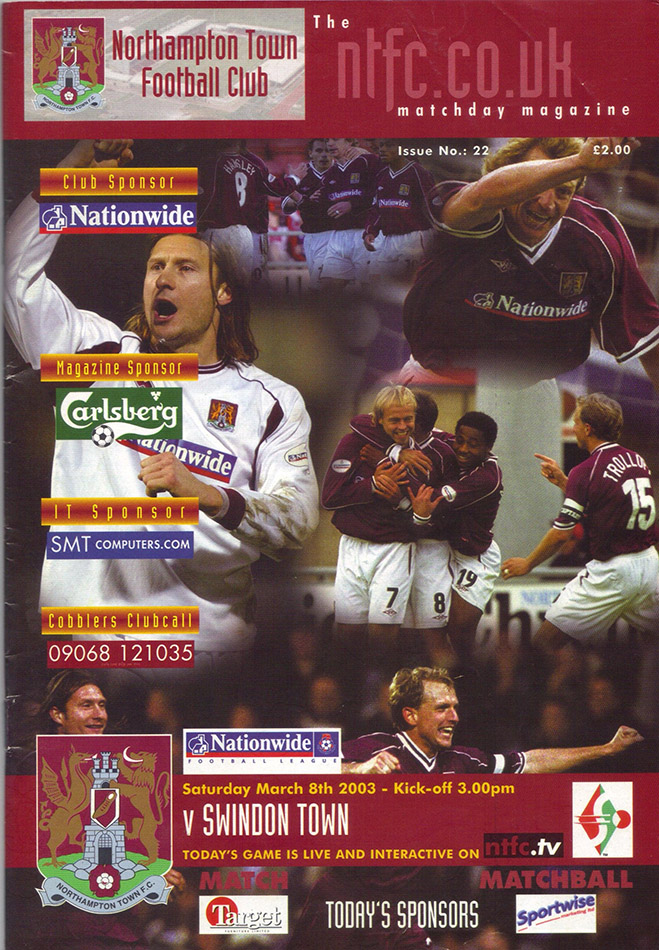 Saturday, March 8, 2003 - vs. Northampton Town (Away)