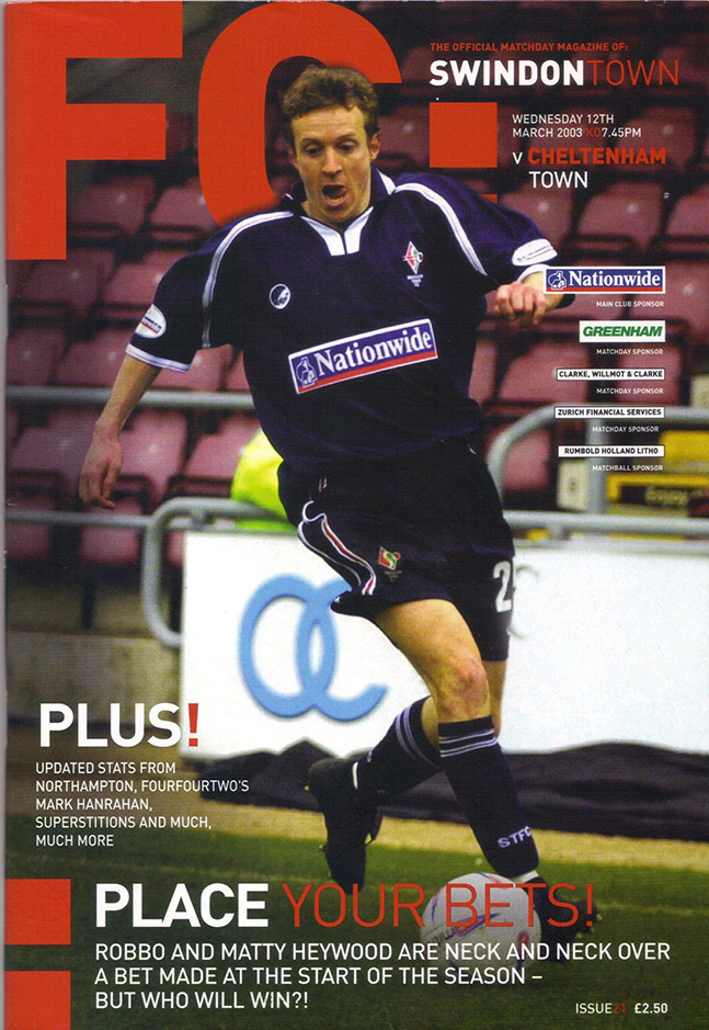Wednesday, March 12, 2003 - vs. Cheltenham Town (Home)