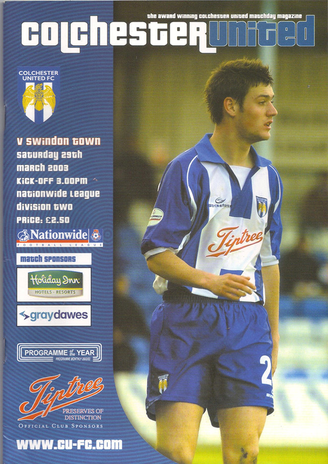 Saturday, March 29, 2003 - vs. Colchester United (Away)