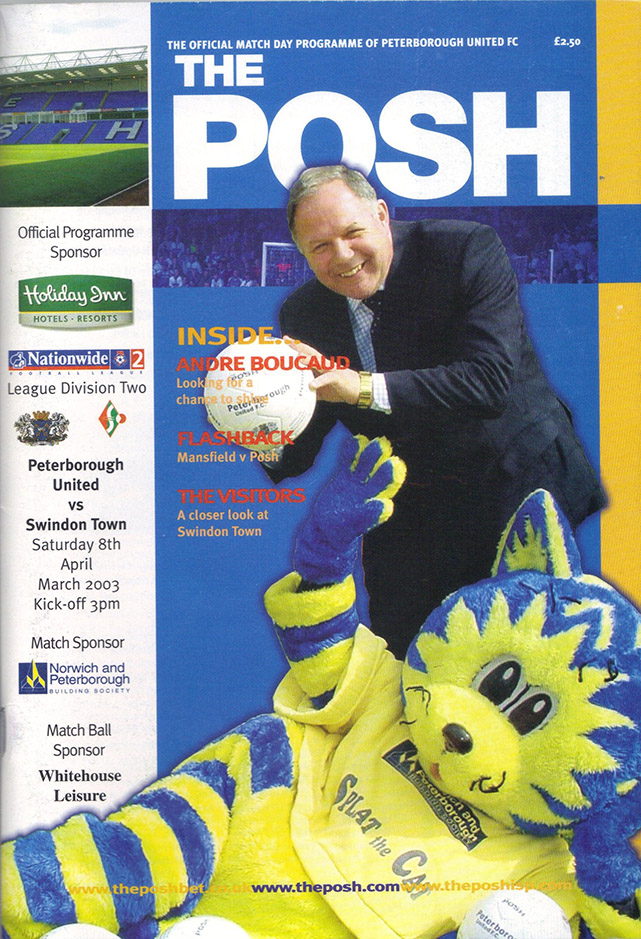Saturday, April 5, 2003 - vs. Peterborough United (Away)