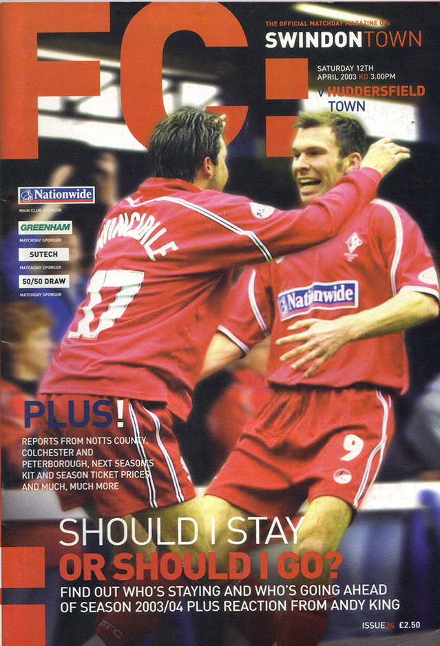 Saturday, April 12, 2003 - vs. Huddersfield Town (Home)