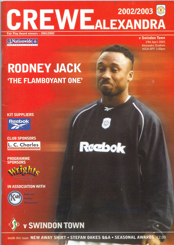 Saturday, April 19, 2003 - vs. Crewe Alexandra (Away)